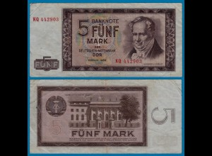 DDR Banknote 5 Mark 1964 Ros. 354a VF (3) (20969