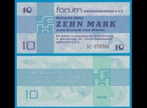 DDR Forumscheck 10 Mark 1979 Ros. 370a UNC (1) BC (20990