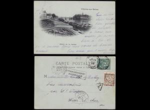 Frankreich - France nachfrankiert Taxe AK 1899 Charlon-sur-Saone (13598
