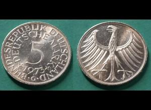 5 DM Silber-Adler Silberadler Münze 1973 G Jäger 387 BRD (21923