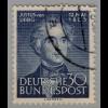 BRD Bund Bundesrepublik Mi. 166 Justus Liebig 1953 gestempelt Mi.25 € (3714