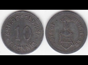 Münster Germany 10 Pfennig Notgeld/Emergency Money/WAR Money 1917 zinc (4104