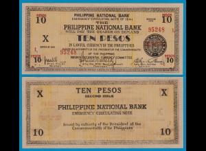 PHILIPPINEN - PHILIPPINES 10 Pesos 1941 Pick S627 aUNC (18309