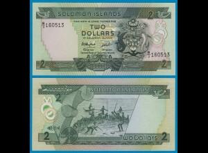 Solomon Islands - Salomonen - 2 Dollars 1986 UNC Pick 13a (18310