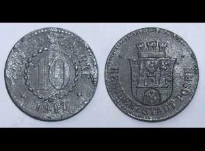 10 Pfennig Notgeld/Geldersatzmarke Münze Posen 1917 Zink (21946