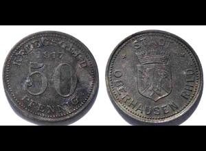Oberhausen 50 Pfennig Notgeld/Kriegsgeld 1917 Zink (21997