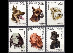 RUMÄNIEN - ROMANIA - 1971 DOGs Hunde Mi.2908-2913 postfrisch (22095