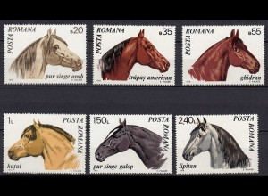 RUMÄNIEN - ROMANIA - 1970 Pferde/Horses Mi.2888-93 postfr. (22098