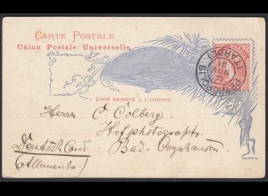 BRAZIL 1891 POSTAL STATIONERY 80 REIS PETROPOLIS to GERMANY (21882