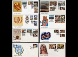 Griechenland - Greece 8 Stück FDC aus 1985 hoher KW (16064