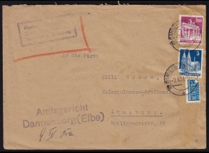 Alliierte Bes.Bauten Mif 1951 Gerichtsbrief (22129