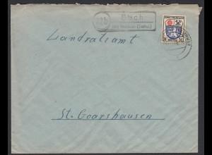 Buch über Nastetten 1946 Landpost/Posthilfstelle nach St.Goarshausen (22151