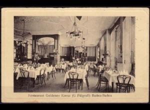 AK Baden Baden Restaurant Goldenes Kreuz Innen (5832