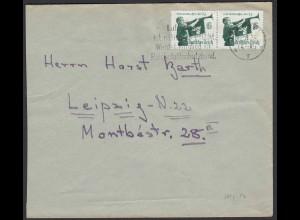 3.Reich Brief mit Mi. 584y Paar als Mehrfachfrankatur 1935 HJ (22187