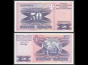 Bosnia & Herzegovina - 50 Dinara Banknote 1995 UNC Pick 47 (14423
