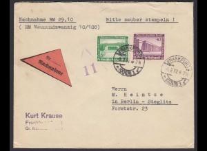 3.Reich Mi.636 + 641 auf Nachnahme Brief 1937 WHW 36 (22198