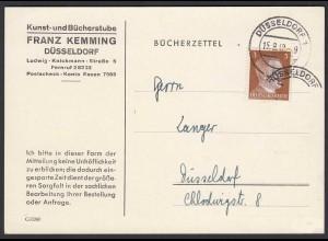 3.Reich Mi. 782 Einzelfrankatur 3 Pfg.Hitler auf Bücherzettel (22201