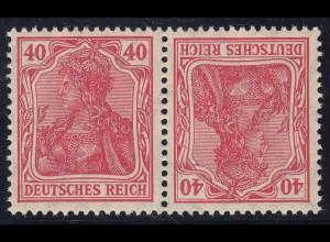 Deutsches Reich K3 postfrisch Germania Zusammendruck (22355