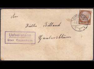 Uelversheim über Oppenheim nach Guntersblum Landpost 1936 (22211