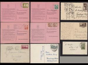 Saar/Saarland Lot 9 Stück meist Karten Bedarf bitte ansehen (22213