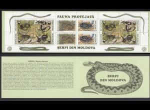 Moldawien - Moldova 1993 WWF Aesculapian Schlangen Snake Heftchen (22373