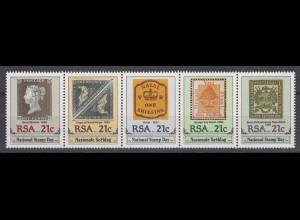 Südafrika RSA 1990 National Stamp Day Satz ** Briefmarke auf Marke (22358