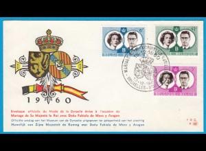Belgien - Belgium 1960 FDC Hochzeit der Königsfamilie 1228-30 (22085