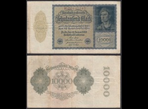 Reichsbanknote - 10.000 10000 Mark 1922 Ros. 69 Pick F (4) (22337