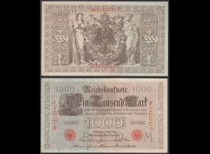 Reichsbanknote - 1000 Mark 1910 Ros. 45 fast XF (2-) (22338