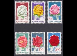 RUMÄNIEN - ROMANIA - 1970 Flora Rosen Mi.2868-73 postfr. (22538