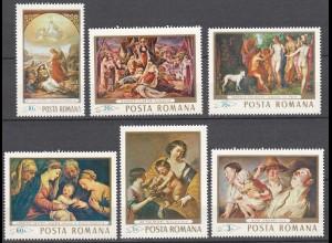 RUMÄNIEN - ROMANIA - 1968 Gemälde Mi. 2706-11 postfr. (22550