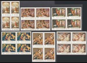 RUMÄNIEN - ROMANIA - 1968 Gemälde 4er Block Mi. 2706-11 postfr. (22551