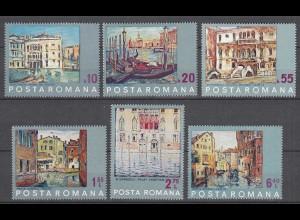 RUMÄNIEN - ROMANIA - 1972 UNESCO Rettet Venedig Mi.3053-58 postfr.(22556
