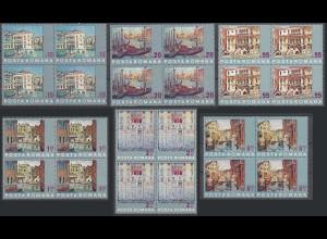 RUMÄNIEN - ROMANIA - 1972 UNESCO Rettet Venedig Mi.3053-58 postfr 4er Block