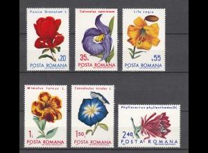 RUMÄNIEN - ROMANIA - 1972 Blumen Botanische Gärten Mi.2940-45 postfr.(22558