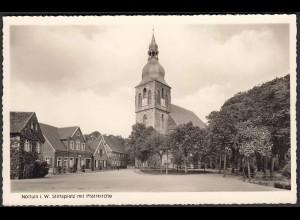 AK Nottuln Stiftsplatz mit Kirche bei Coesfeld Münster (22577