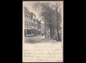 AK Nottuln 1907 Kirchstrasse m.Geschäfte bei Coesfeld Münster (22579