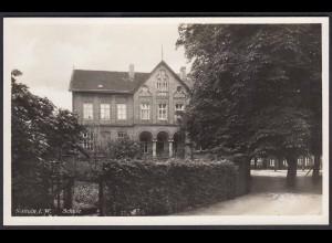 AK Nottuln Alte Schule m.Kastanienplatz bei Coesfeld Münster (22581