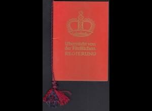 Liechtenstein - Mi.362-64 Ersttag im Roten Büchlein der Regierung (22718