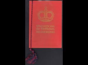 Liechtenstein - Mi.365-68 Ersttag im Roten Büchlein der Regierung (22719