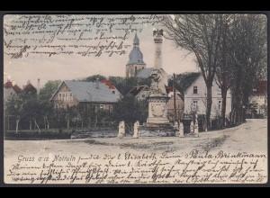AK Nottuln Kriegerdenkmal Eingang Stiftsstrasse bei Coesfeld Münster (22585