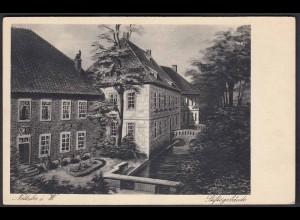 AK Nottuln Stiftsgebäude mit Nonnenbach bei Coesfeld Münster (22595