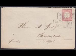 Nottuln 1 Groschen auf Umschlag nach Reichenbach Voigtland (22604