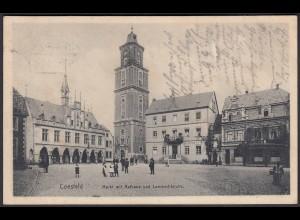 AK Coesfeld Markt Rathaus Lambertikirche 1910 bei Münster Dülmen (22609