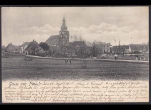 AK Nottuln Ansicht vom Ludgeruspaettken 1905 bei Coesfeld Münster (22624
