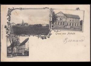 AK Nottuln Jugendstil mit Schule 1904 bei Coesfeld Münster (22629
