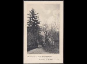 AK Nottuln Baumberge Weg zu Aaquellen bei Münster Coesfeld (22647