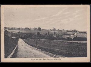 AK Nottuln Baumberge Strasse ins Stevertal bei Coesfeld Münster (22655