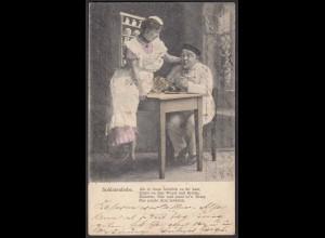 AK Soldatenliebe 1906 Gedicht Spruch Liebe geht durch den Magen (22669