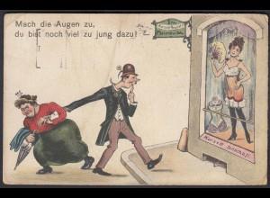 AK Sprüche Erotic 1923 Korsett Geschäft (22670